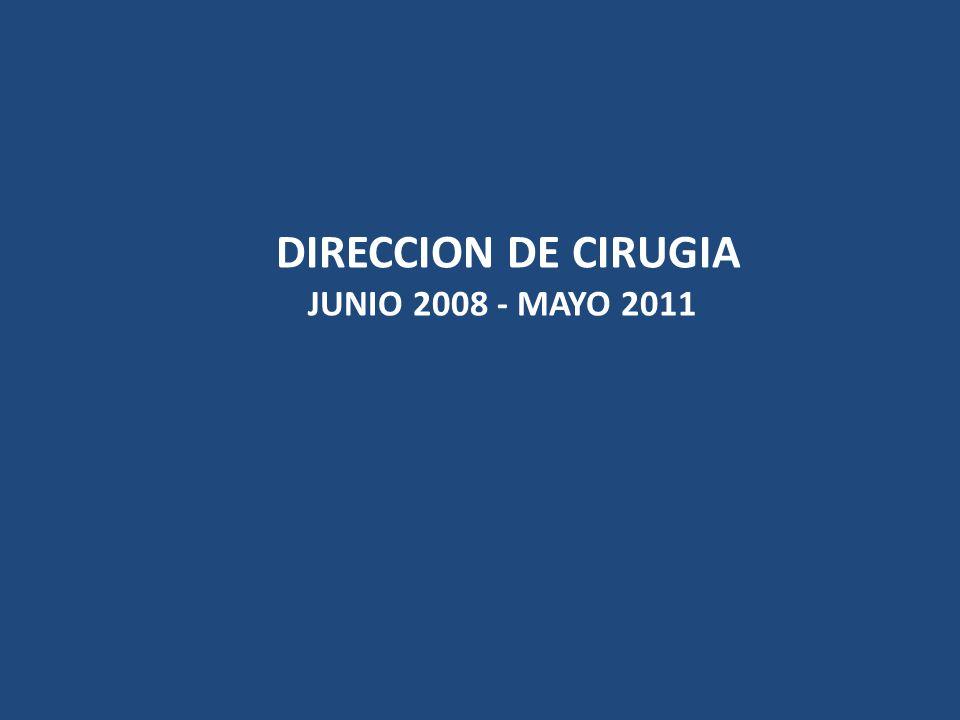 DIRECCION DE CIRUGIA JUNIO 2008 - MAYO 2011