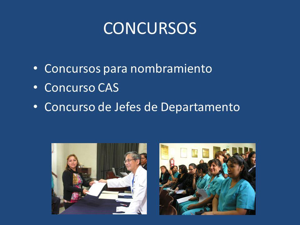 CONCURSOS Concursos para nombramiento Concurso CAS Concurso de Jefes de Departamento