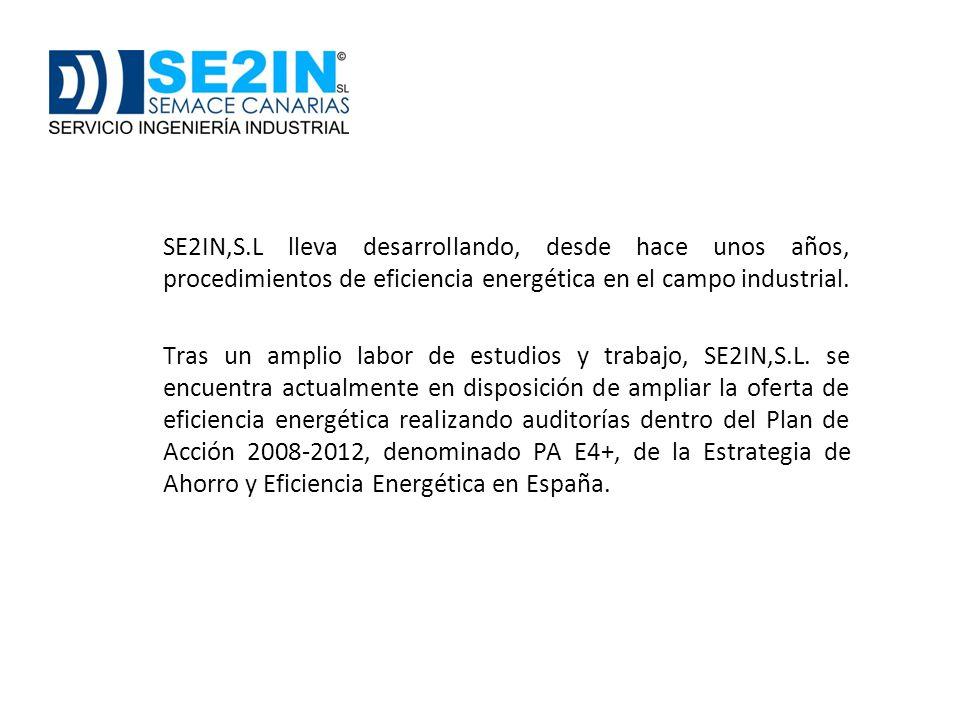 SE2IN,S.L lleva desarrollando, desde hace unos años, procedimientos de eficiencia energética en el campo industrial. Tras un amplio labor de estudios