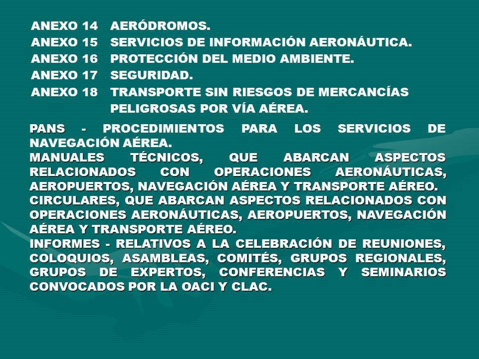 PANS - PANS - PROCEDIMIENTOS PARA LOS SERVICIOS DE NAVEGACIÓN AÉREA. MANUALES TÉCNICOS, QUE ABARCAN ASPECTOS RELACIONADOS CON OPERACIONES AERONÁUTICAS