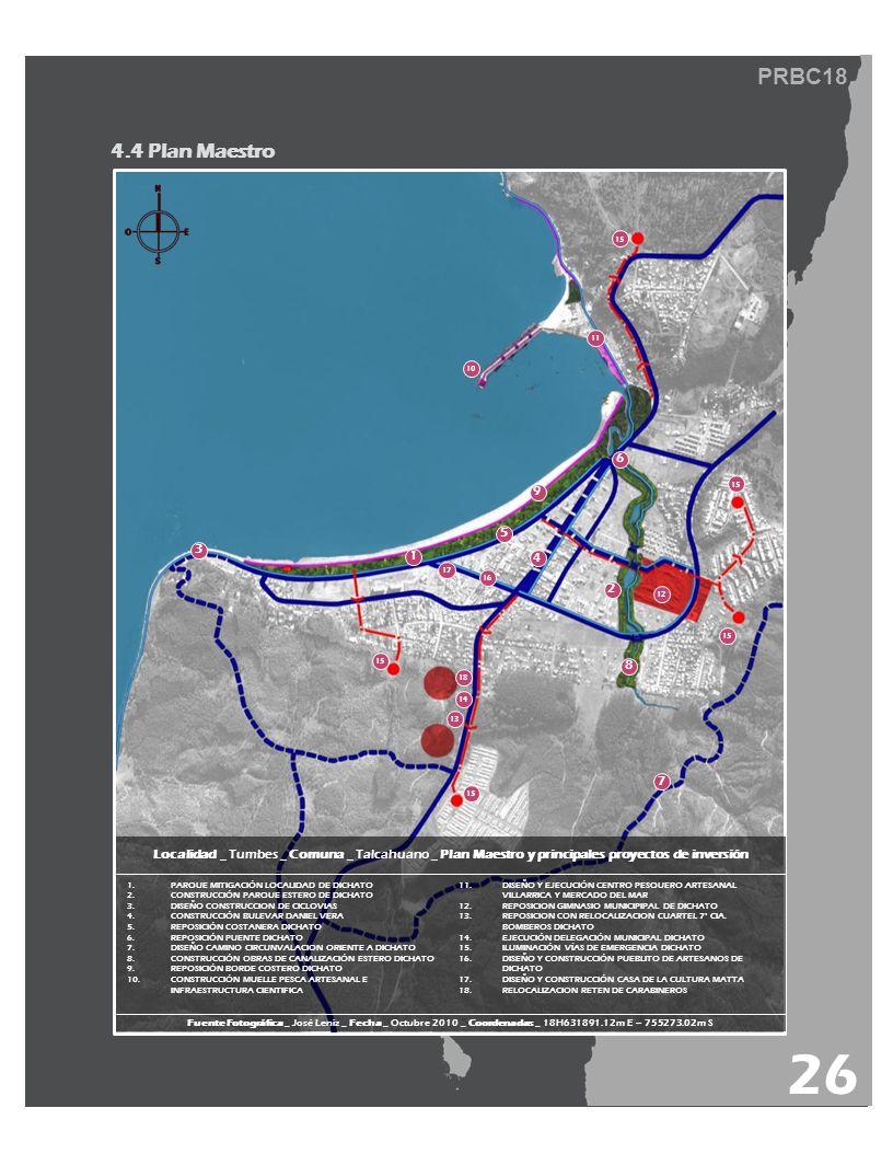 PRBC18 4.4 Plan Maestro 26 Localidad _ Tumbes _ Comuna _ Talcahuano _ Plan Maestro y principales proyectos de inversión 1.PARQUE MITIGACIÓN LOCALIDAD