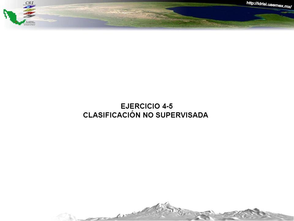 EJERCICIO 4-5 CLASIFICACIÓN NO SUPERVISADA