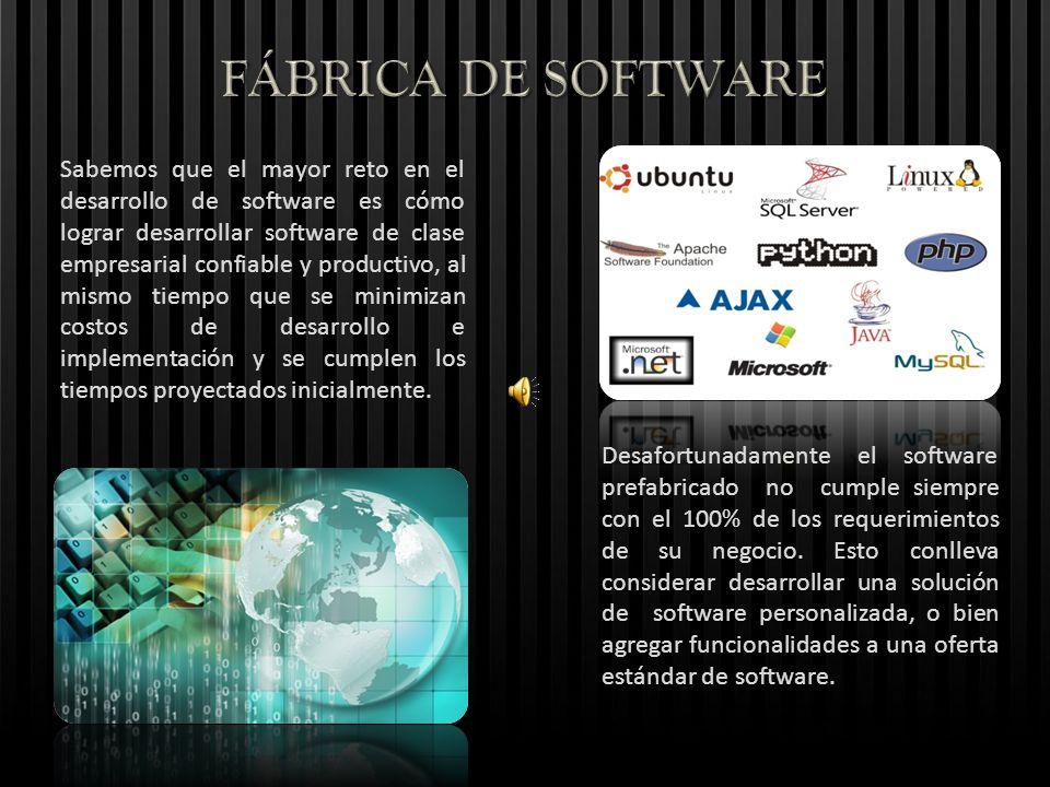 Sabemos que el mayor reto en el desarrollo de software es cómo lograr desarrollar software de clase empresarial confiable y productivo, al mismo tiemp