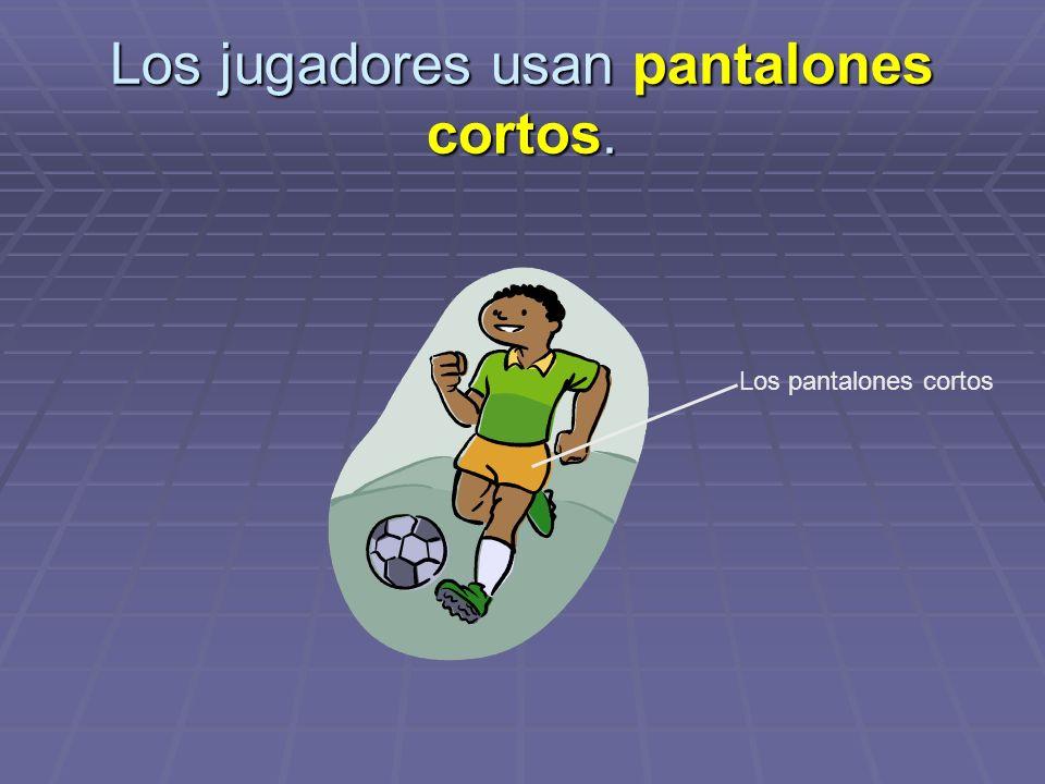 Los jugadores usan pantalones cortos. Los pantalones cortos
