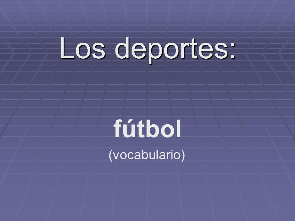 Los deportes: fútbol (vocabulario)