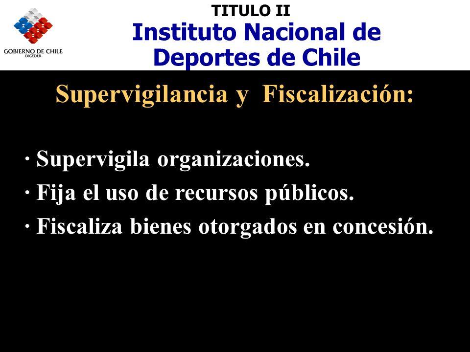 TITULO II Instituto Nacional de Deportes de Chile Estructura: · Director Nacional.