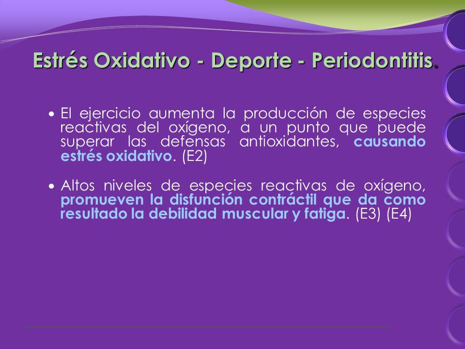 Estrés Oxidativo - Deporte - Periodontitis.