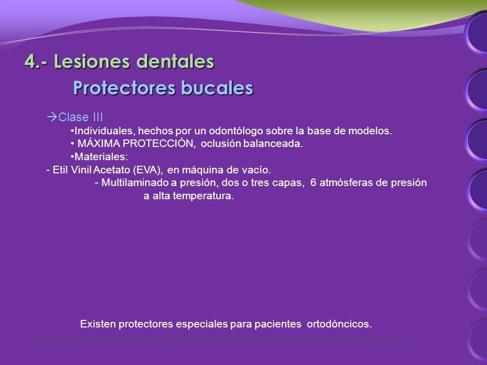 Protectores bucales Clase III Individuales, hechos por un odontólogo sobre la base de modelos.
