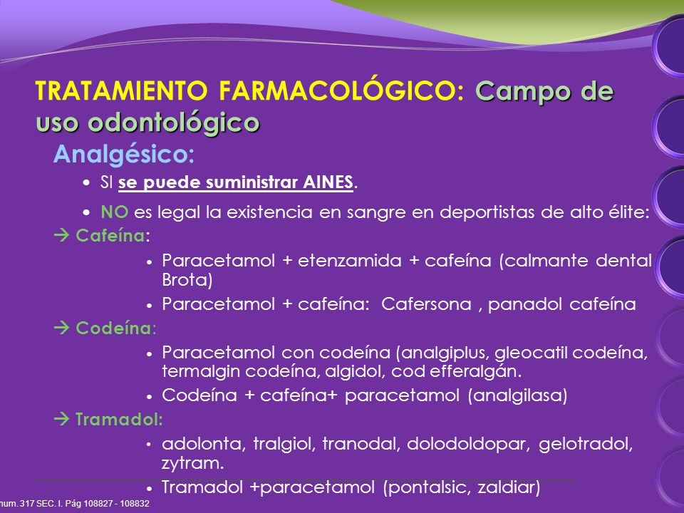 Analgésico: SI se puede suministrar AINES.