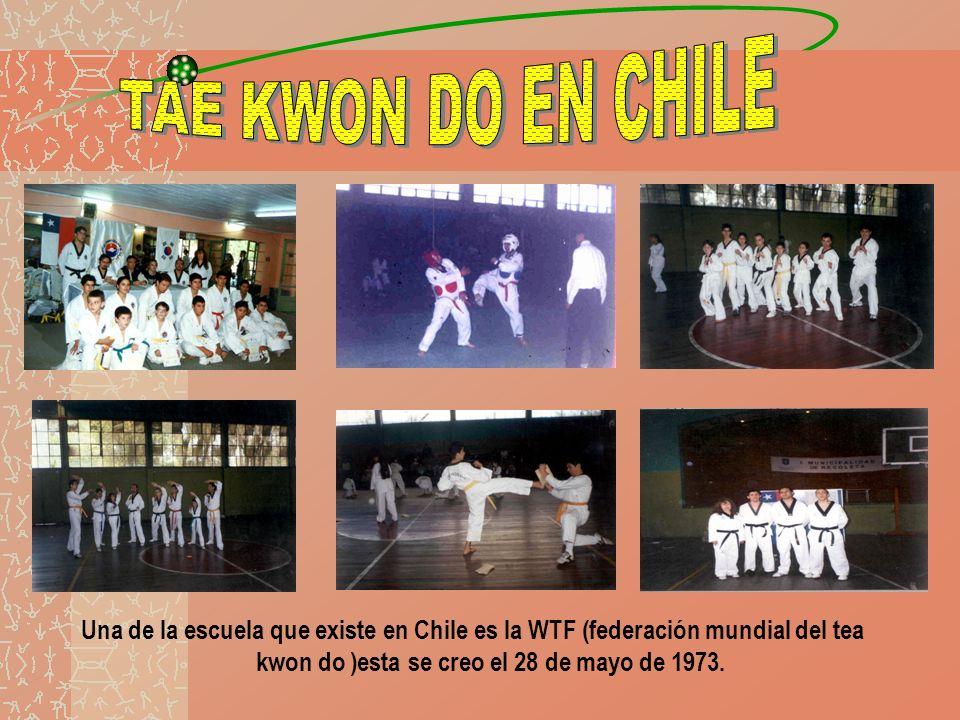 Una de la escuela que existe en Chile es la WTF (federación mundial del tea kwon do )esta se creo el 28 de mayo de 1973.