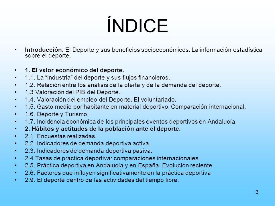 44 Tasas de práctica deportiva Fuente: COMPASS, García Ferrando (2001) y ODA (2004) No incluye todos los deportes, solo los admitidos por el COI.