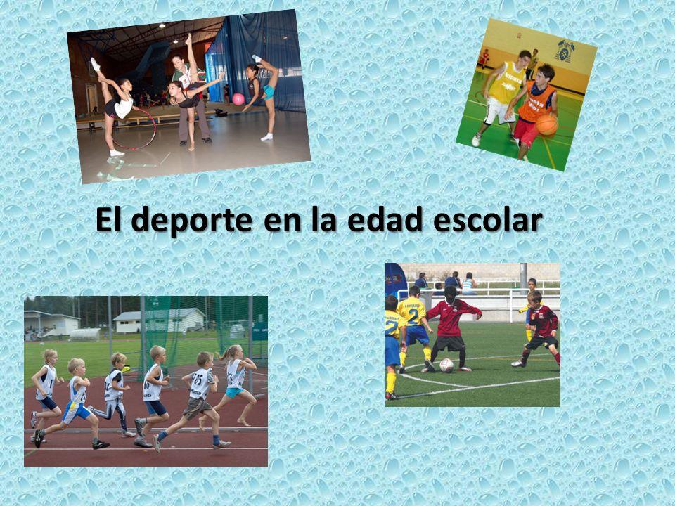 El deporte en la edad escolar