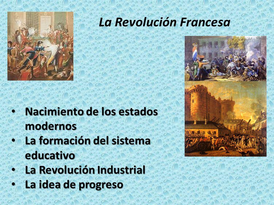 La Revolución Francesa Nacimiento de los estados modernos Nacimiento de los estados modernos La formación del sistema educativo La formación del siste