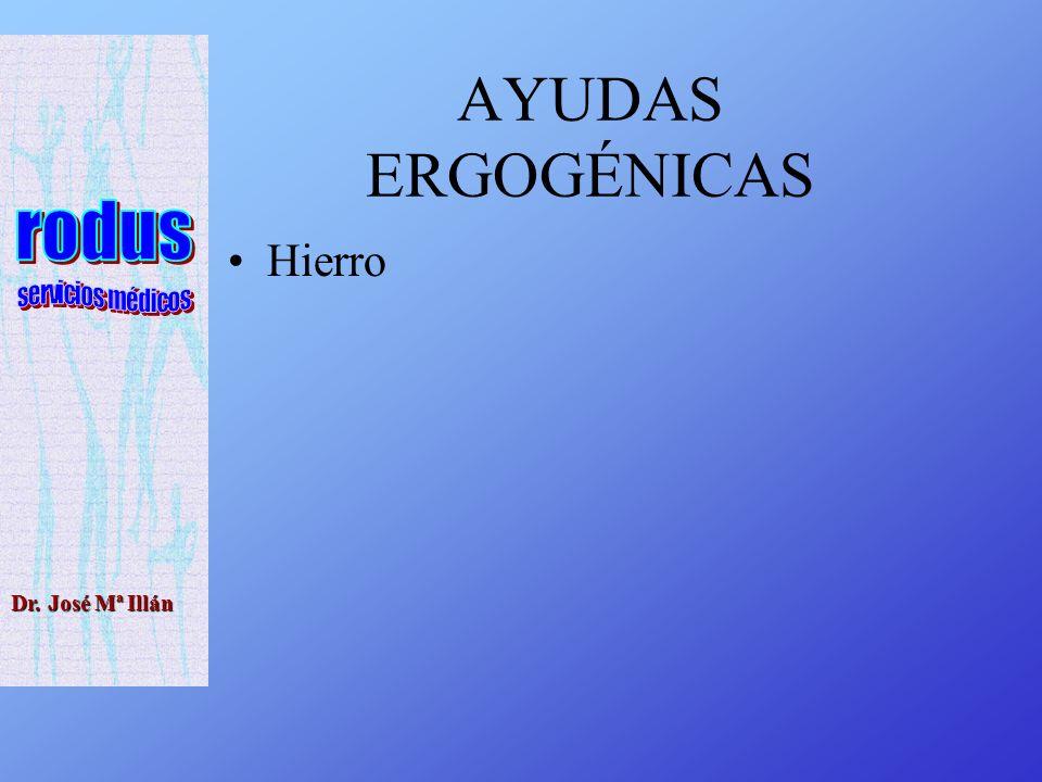 Dr. José Mª Illán AYUDAS ERGOGÉNICAS Hierro