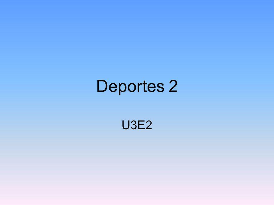 Deportes 2 U3E2
