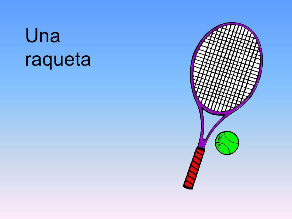 Una raqueta