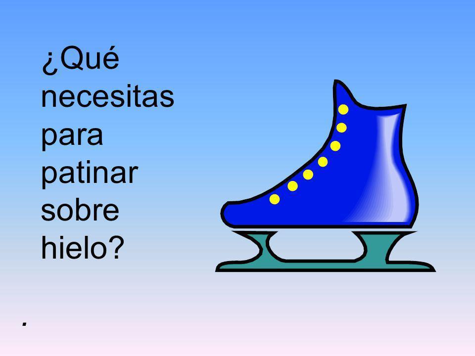 ¿Qué necesitas para patinar sobre hielo?.