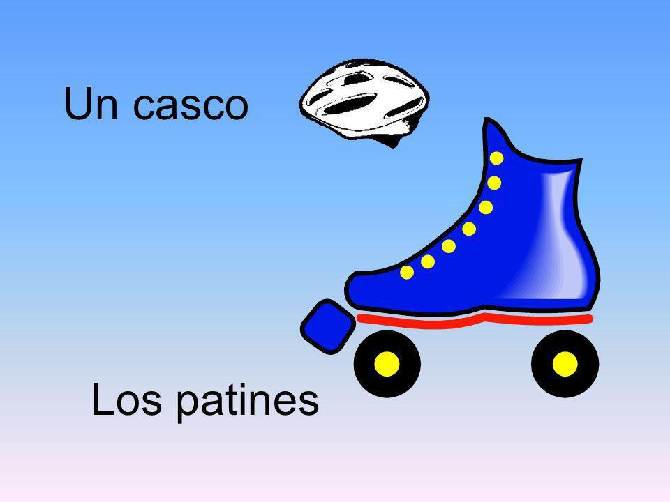 Los patines Un casco