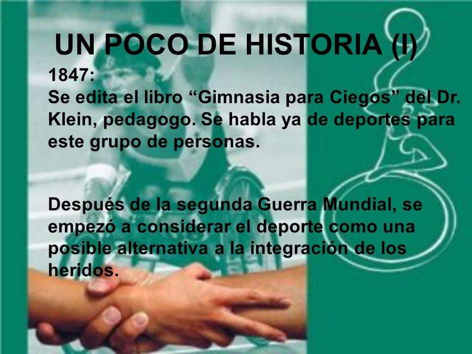 UN POCO DE HISTORIA (I) 1847: Se edita el libro Gimnasia para Ciegos del Dr.