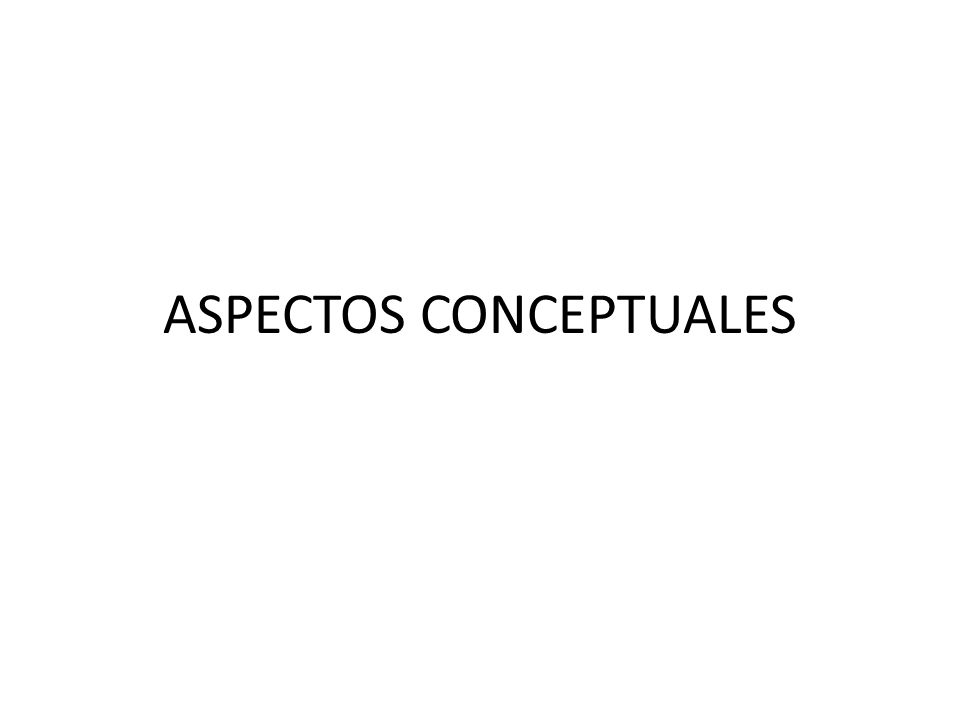 ASPECTOS CONCEPTUALES