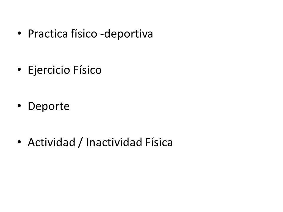Practica físico -deportiva Ejercicio Físico Deporte Actividad / Inactividad Física