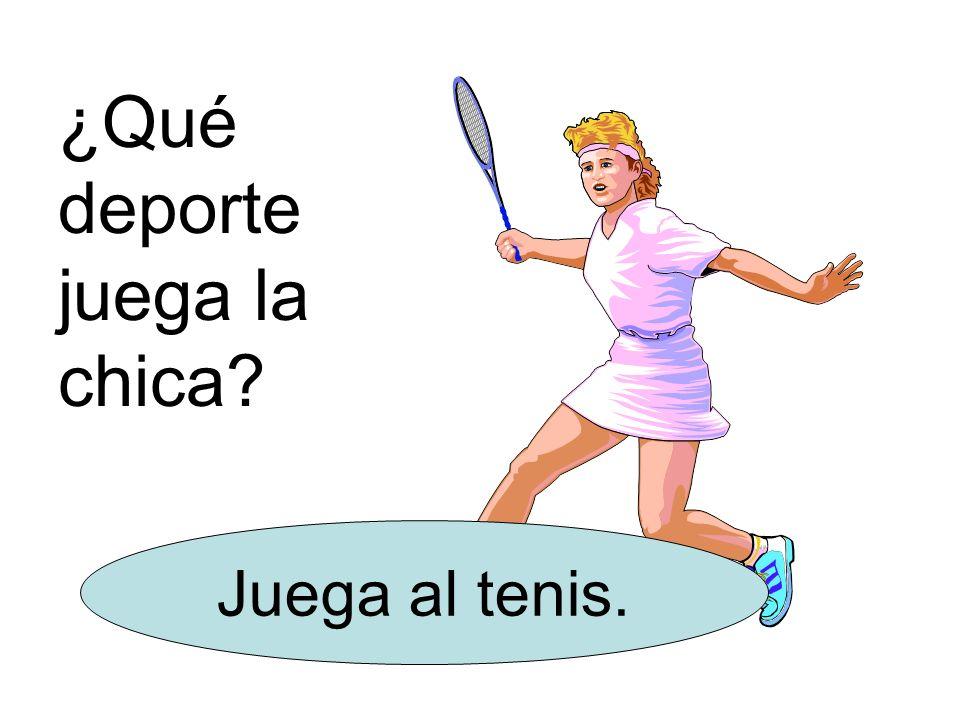 ¿Qué deporte juega la chica? Juega al tenis.