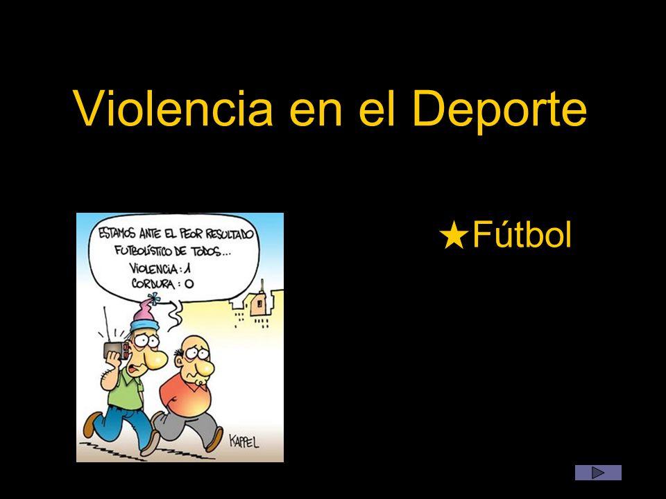 Concluimos que: Por eso decimos La violencia atenta contra las principales enseñanzas y actos que ofrecen los deportes.