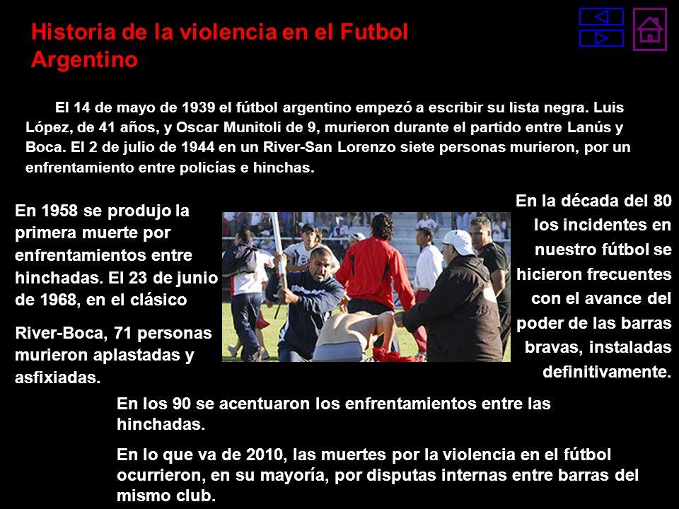 El 14 de mayo de 1939 el fútbol argentino empezó a escribir su lista negra. Luis López, de 41 años, y Oscar Munitoli de 9, murieron durante el partido