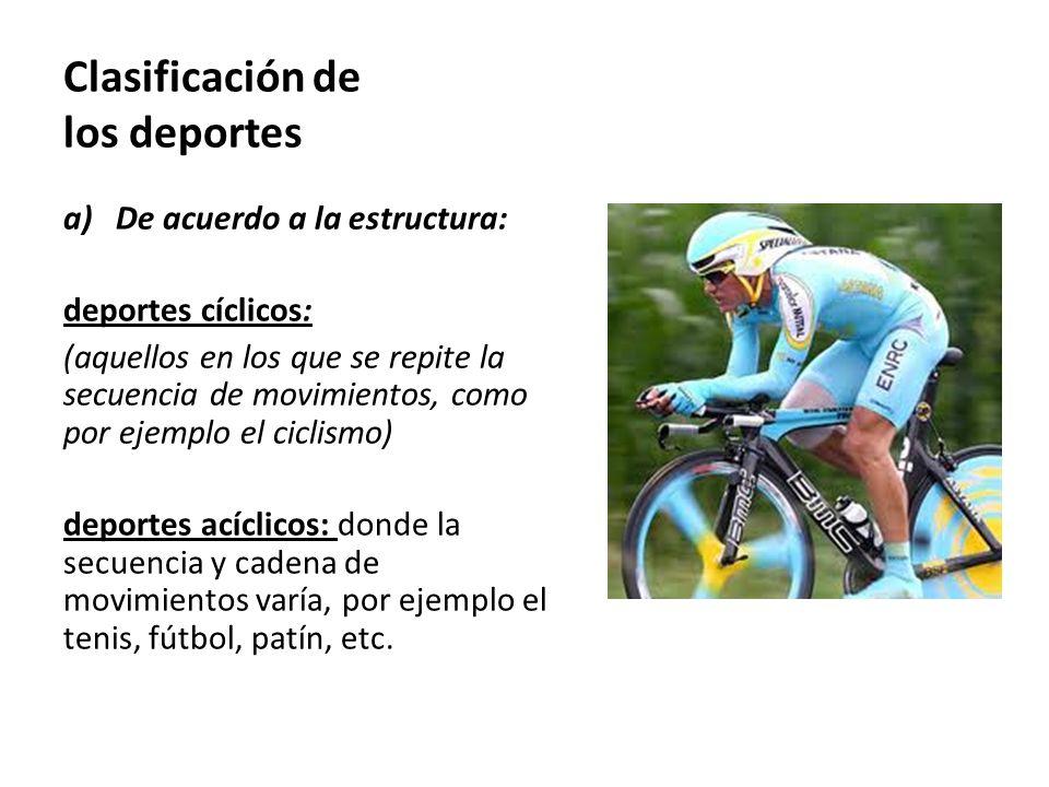 Clasificación de los deportes b) De acuerdo a las personas: deportes individuales: donde interviene una sola persona o deportista.