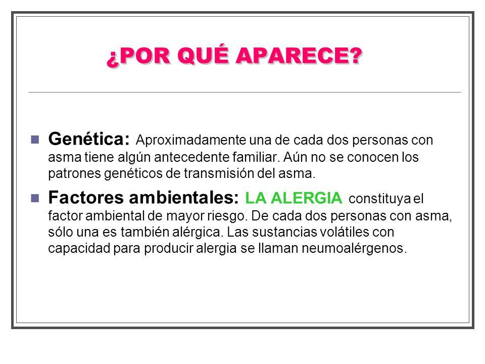 NEUMOALERGENOS ÁCAROS PELO ANIMALES DOMÉSTICOS (gato, perro) HONGOS PÓLENES DE PLANTAS (gramíneas, parietaria, olivo y platanero) OTROS FACTORES AMBIENTALES ( tabaco, alimentación, …)