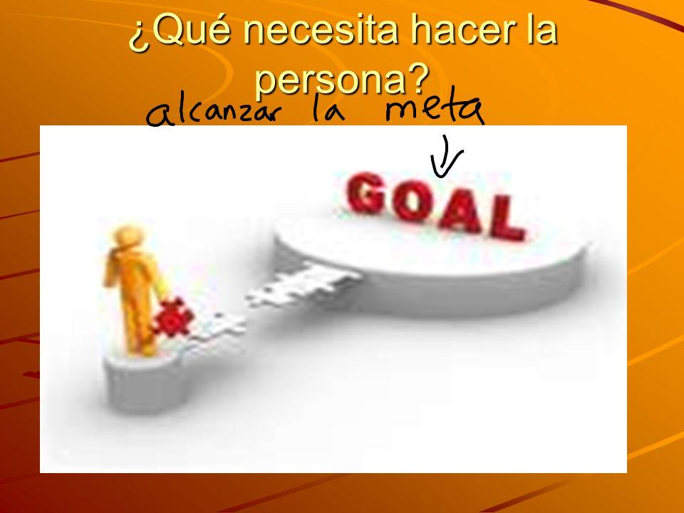 ¿Qué necesita hacer la persona?