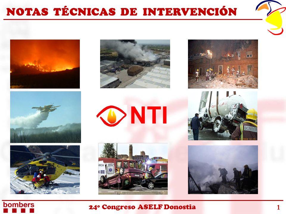 24º Congreso ASELF Donostia NOTAS TÉCNICAS DE INTERVENCIÓN 1 NTI