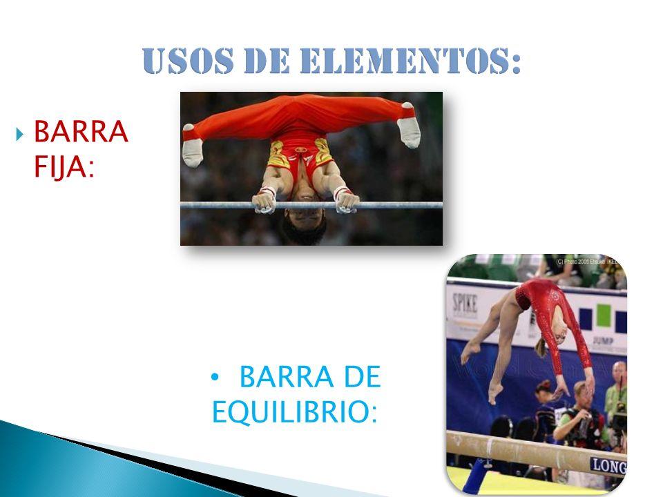 BARRA FIJA: BARRA DE EQUILIBRIO: