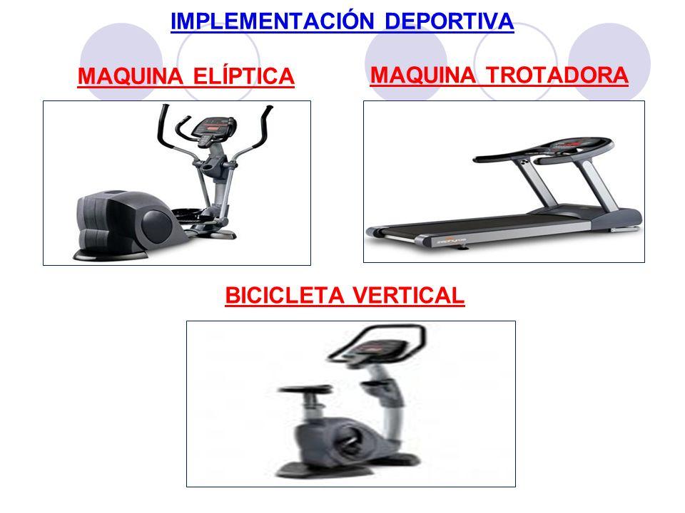 IMPLEMENTACIÓN DEPORTIVA MAQUINA ELÍPTICA MAQUINA TROTADORA BICICLETA VERTICAL