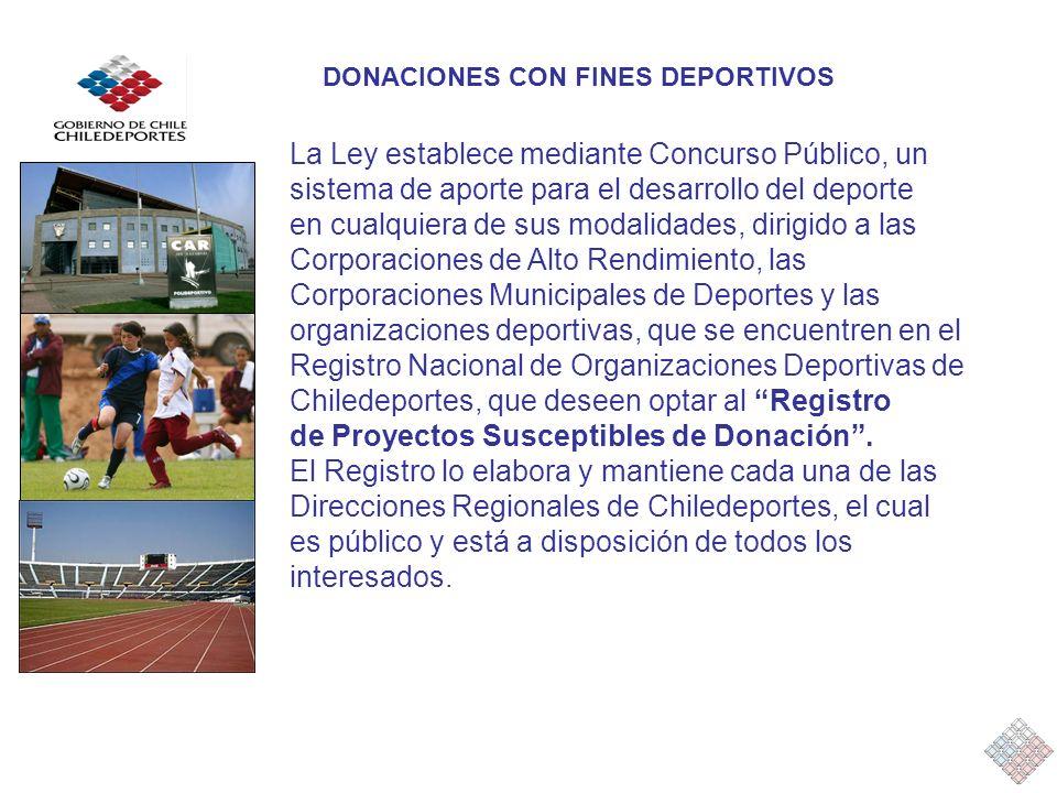 La Ley establece mediante Concurso Público, un sistema de aporte para el desarrollo del deporte en cualquiera de sus modalidades, dirigido a las Corpo