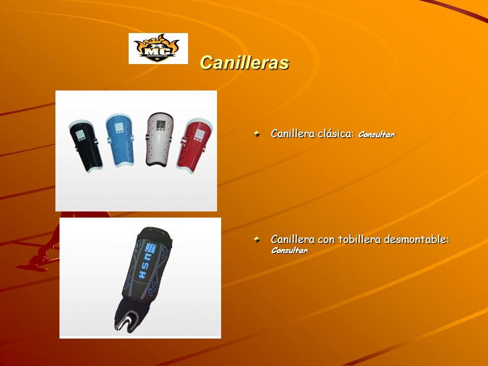 Canilleras Canillera clásica: Consultar Canillera con tobillera desmontable: Consultar