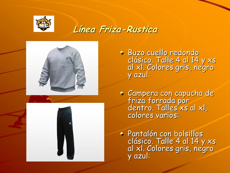 Línea Friza-Rustica Buzo cuello redondo clásico. Talle 4 al 14 y xs al xl. Colores gris, negro y azul: Campera con capucha de friza forrada por dentro