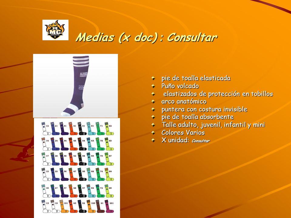 Medias (x doc) : Consultar pie de toalla elasticada Puño volcado elastizados de protección en tobillos elastizados de protección en tobillos arco anat