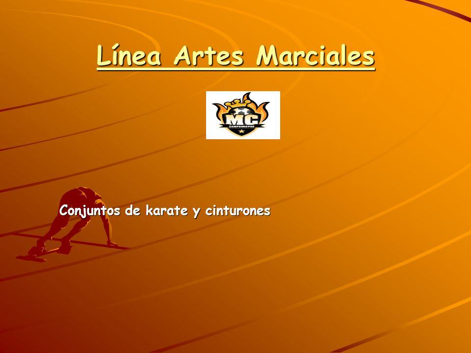 Línea Artes Marciales Conjuntos de karate y cinturones