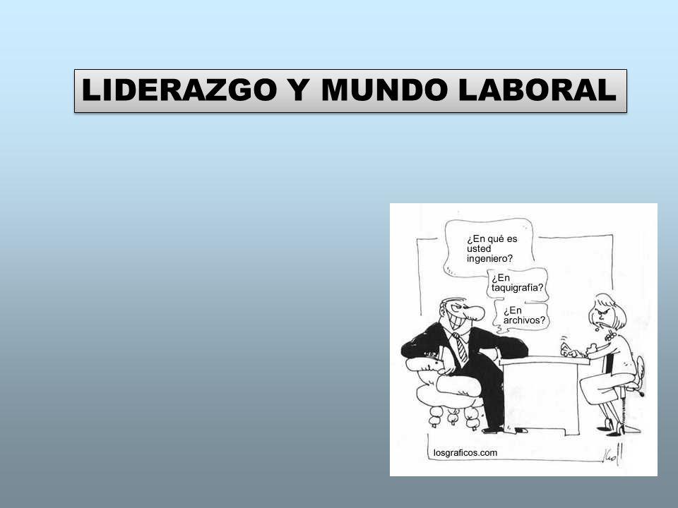 LIDERAZGO Y MUNDO LABORAL