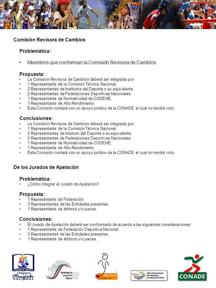 Comisión Revisora de Cambios Problemática: Miembros que conforman la Comisión Revisora de Cambios.