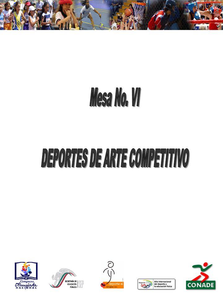 Deportes Ajedrez Clavados Boliche Gimnasia Artística, Rítmica y Trampolín Nado Sincronizado Tiro Deportivo Tiro con Arco Vela Patinaje Artístico