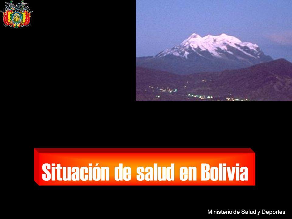 Ministerio de Salud y Deportes ALTO RIESGO MEDIANO RIESGO SIN RIESGO Mapa de riesgo Chagas BOLIVIA 2004