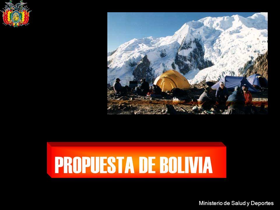 Ministerio de Salud y Deportes PROPUESTA DE BOLIVIA