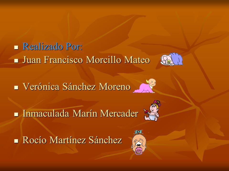 Realizado Por: Realizado Por: Juan Francisco Morcillo Mateo Juan Francisco Morcillo Mateo Verónica Sánchez Moreno Verónica Sánchez Moreno Inmaculada M