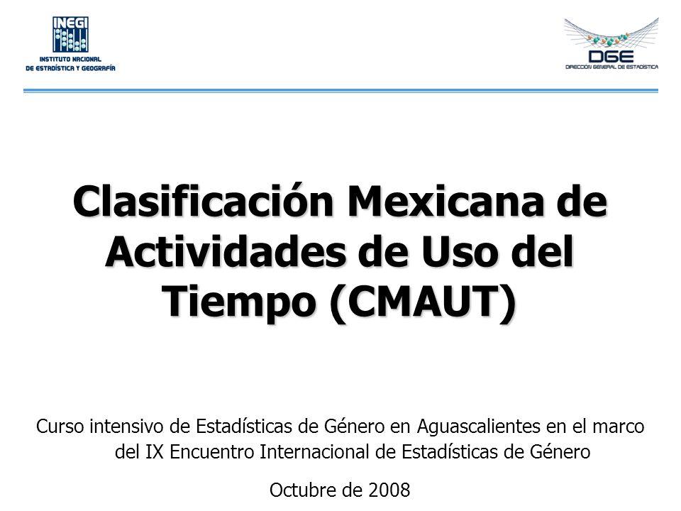 Contenido Criterios de conformación de la ICATUS Criterios generales y para la adaptación a México del clasificador de Naciones Unidas Nuevo énfasis en las actividades productivas de no mercado en la Clasificación Mexicana de Actividades de Uso del Tiempo (CMAUT) Comparativo con clasificadores de otros países u organismos internacionales 2
