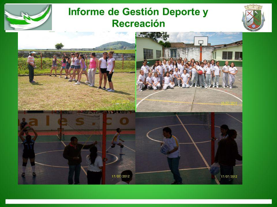 Informe de Gestión Deporte y Recreación Trabajemos juntos por Santa Rosa de Cabal 2012-2015