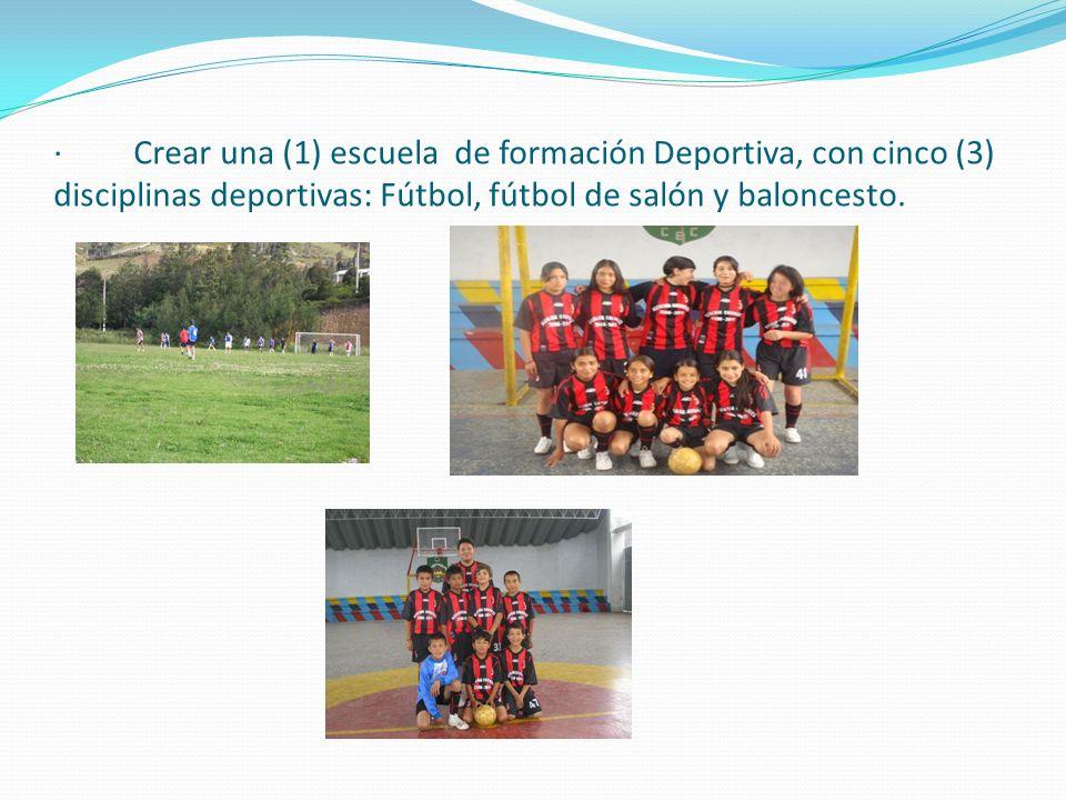Formular por año una Agenda Deportiva Municipal para organizar eventos deportivos, recreativos, festivales, juegos, olimpiadas y campeonatos entre otr
