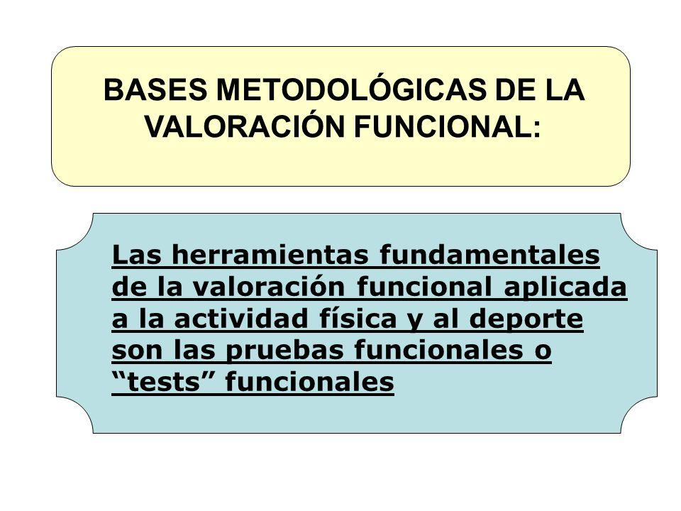 BASES METODOLÓGICAS DE LA VALORACIÓN FUNCIONAL: Las herramientas fundamentales de la valoración funcional aplicada a la actividad física y al deporte