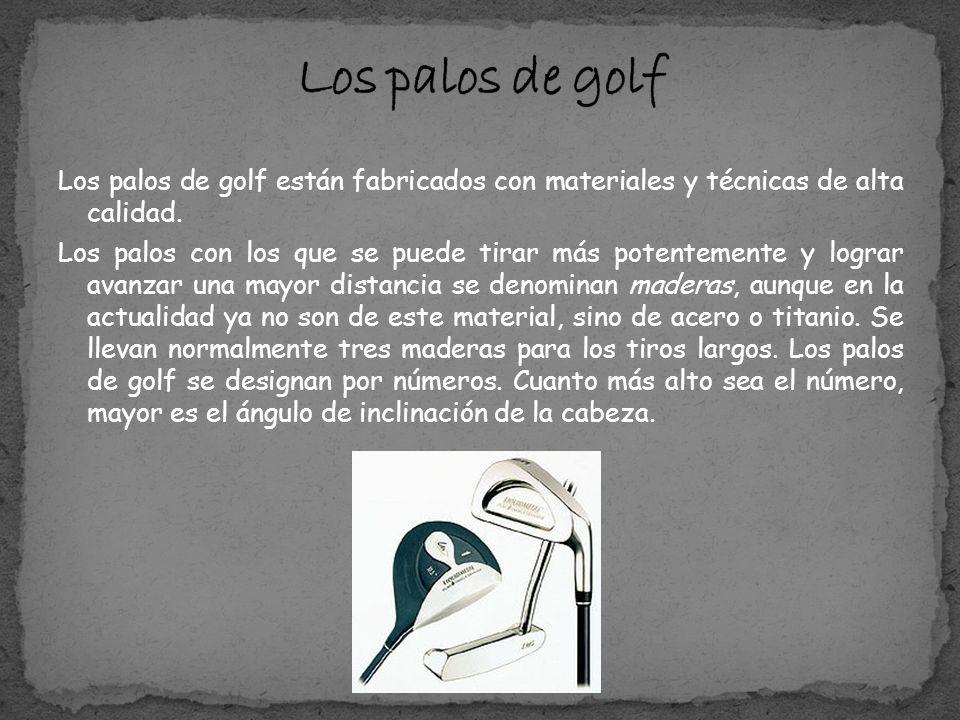 El diámetro de la bola de golf no ha de ser inferior a 42,67 mm ni su peso superior a 45,93 g.